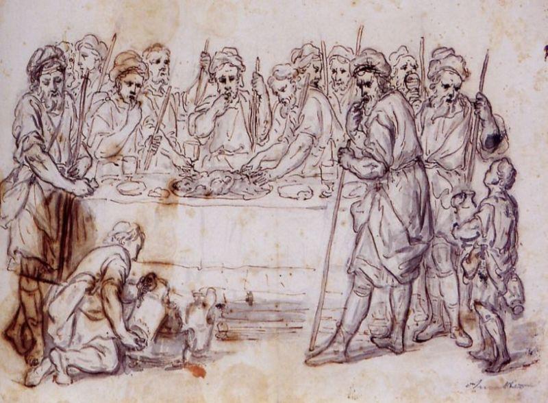 Pomponio Amalteo, Ultima cena (Disegno)